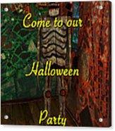 Halloween Party Invitation - Skeleton Acrylic Print