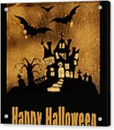 Halloween Quilt Top Acrylic Print by Nancy Greenland