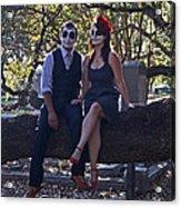 Halloween Romance Acrylic Print by Cheri Randolph