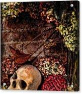 Halloween Still Life Acrylic Print by Joan  Minchak