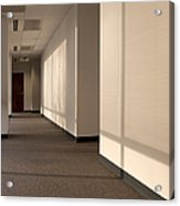Hallway Of An Office Building Acrylic Print