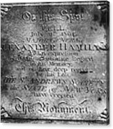 Hamilton: Pamphlet, 1797 Acrylic Print