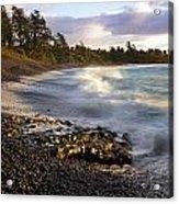 Hana Beach And Wave Acrylic Print