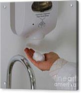 Hand Washing Acrylic Print