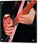 Sun In The Hands And Guitar Of Uli Jon Roth Acrylic Print