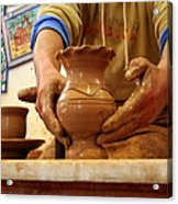 Hands Of The Potter Acrylic Print