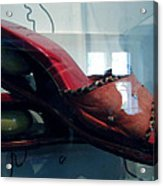 Handsome Shoes With Fresh Eggs In The Middle Plateu Acrylic Print