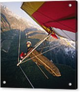 Hang Gliding With Wing-mounted Camera Acrylic Print