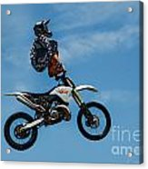 Hanging On Motorcycle Tricks  Acrylic Print