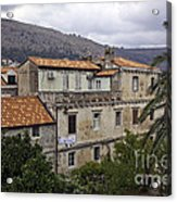 Hanging Out To Dry In Dubrovnik 1 Acrylic Print