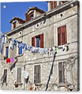 Hanging Out To Dry In Rovinj Acrylic Print