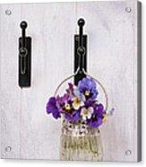 Hanging Pansies Acrylic Print