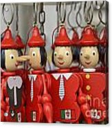 Hanging Pinocchios Puppets Acrylic Print