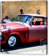 Hanging With My Buddy . 1953 Studebaker .  5d16513 Acrylic Print by Wingsdomain Art and Photography
