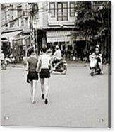Hanoi Girls Acrylic Print