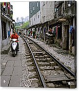 Hanoi Train Tracks Acrylic Print
