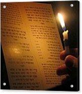 Hanukkah By Candlelight Acrylic Print by Tia Anderson-Esguerra