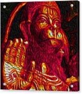 Hanuman The Monkey King Acrylic Print by Naresh Ladhu