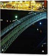 Hapenny Bridge, Dublin City, Co Dublin Acrylic Print
