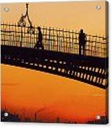 Hapenny Bridge, Dublin, Co Dublin Acrylic Print