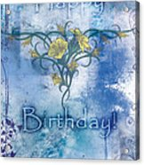 Happy Birthday - Card Design Acrylic Print