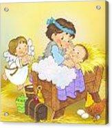 Happy Birthday Jesus Book Cover Art Acrylic Print