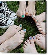 Happy Feet Acrylic Print