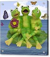 Happy Frogs Acrylic Print