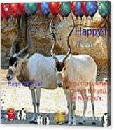 Happy Gnu Year Acrylic Print