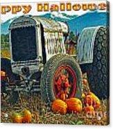 Happy Halloween Card Acrylic Print