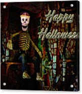 Happy Halloween Skeleton Greeting Card Acrylic Print