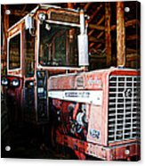 Happy Harvestor Tractor Acrylic Print