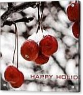 Happy Holidays Berries Acrylic Print
