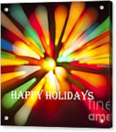 Happy Holidays Card Acrylic Print