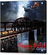 Happy Holidays - Once Upon A Time In The Story Book Town Of Benicia California - 5d18849 Acrylic Print by Wingsdomain Art and Photography