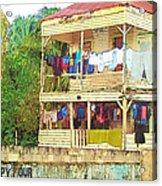 Happy Hour Washday Belize Acrylic Print
