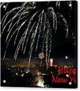 Happy New Year Card Acrylic Print