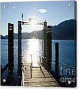 Harbor And Sun Acrylic Print