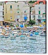 Harbor At Isle Of Capri Acrylic Print