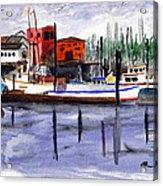 Harbor Fishing Boats Acrylic Print