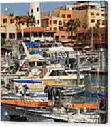 Harbor Waterfront In Cabo San Lucas Acrylic Print