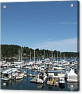 Harbour And Boats Acrylic Print