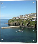 Harbour In Port Isaac, Cornwall Acrylic Print