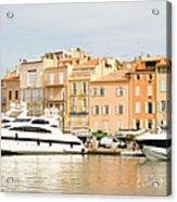 Harbour, St. Tropez, Cote D'azur, France Acrylic Print