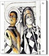 Harlequins Acrylic Print by Bob Salo