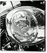 Harley Davidson Bike - Chrome Parts 22 Acrylic Print