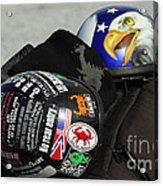 Harley Helmets Acrylic Print