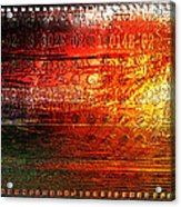 Harmonic Distortion Acrylic Print