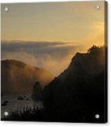 Harris Beach Sunset Panorama Acrylic Print