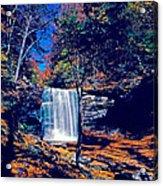Harrison Wright Falls In Fall Acrylic Print